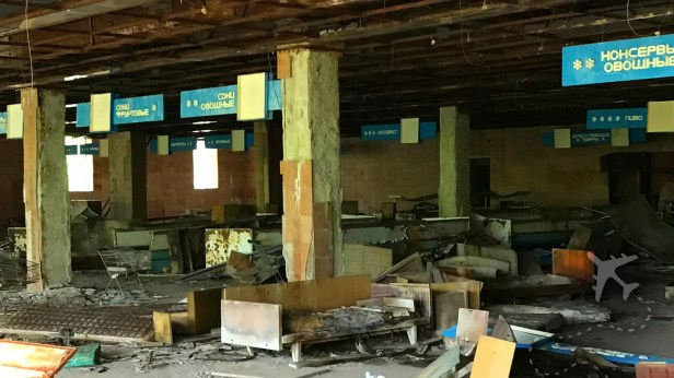 Inside the grocery store in Pripyat